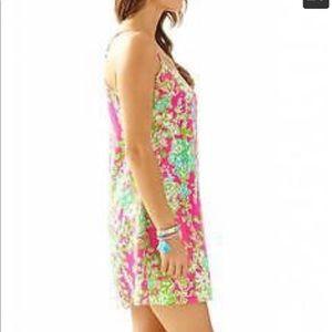 $200 Lilly Pulitzer Dusk Slip Dress Flamingo Pink